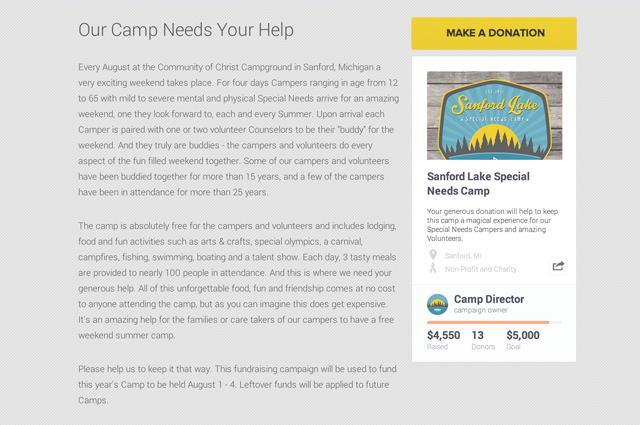 Special Needs Camp